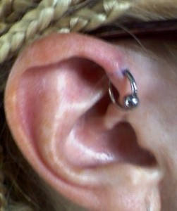 helix piercing photos