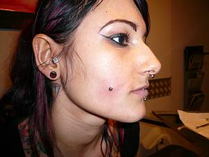 Cheek Piercing Information Healing Time Hurt Risks Aftercare