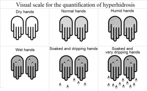 Hyperhidrosis visual scale