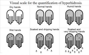 Hyperhidrosis visual scale